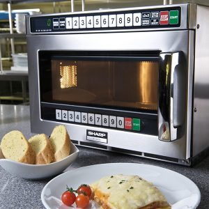 Sharp microwave in stainless steel